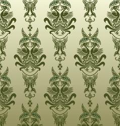 retro bird wallpaper vector image vector image