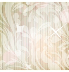Retro floral background for card vector image vector image