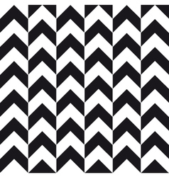 small chevron background black white vector image vector image