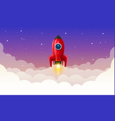 space rocket launch art creative vector image vector image