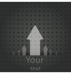Speech Bubble on Metal Background vector image vector image