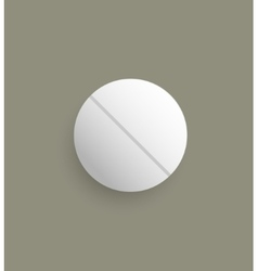 The white pill vector