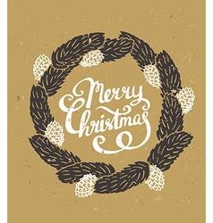 Traditional green Christmas decoration Fir-tree vector image vector image