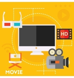 Video production and motion graphic concept vector