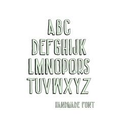 Vintage alphabetic fonts vector image