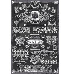 Vintage Blackboard Hand Drawn Banners vector image