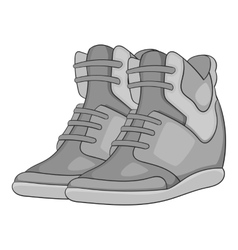 Women autumn sneakers icon gray monochrome style vector image vector image