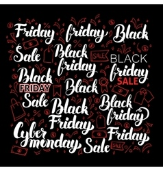 Black friday calligraphy set vector