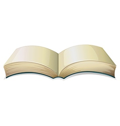 An empty thick book vector