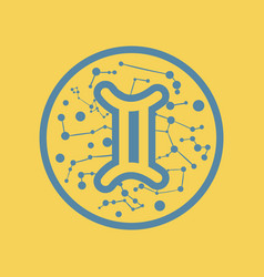 Flat icon zodiac sign gemini vector