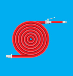 Water hose to extinguish the fire fire equipment vector