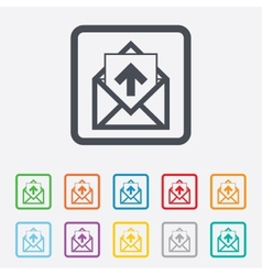 Mail icon envelope symbol outbox message sign vector