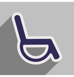 Icon of wheel chair in flat style vector