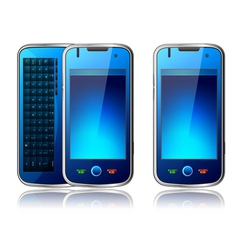 Qwerty mobile phone vector
