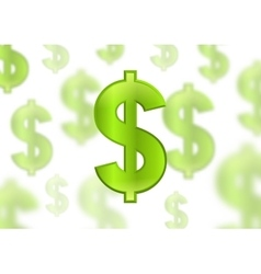 Dollar sign green color vector