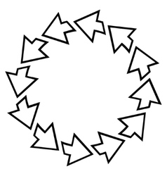 Rotation Arrows Outline Icon vector image