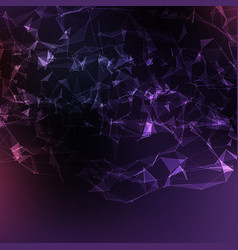 abstract violet mesh background vector image vector image