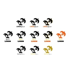 Black palms logo vector