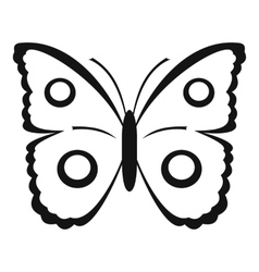 Butterfly peacock eye icon simple style vector
