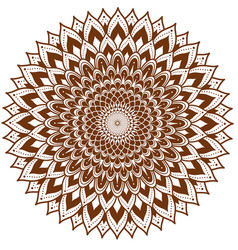 circle floral ornament henna tattoo style vector image