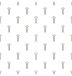 Decorative roman pillar pattern cartoon style vector