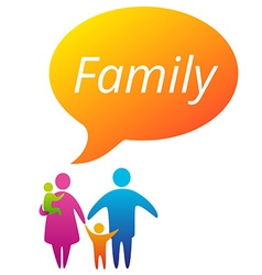 FamilyBubble vector image vector image