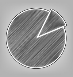 Finance graph sign pencil sketch vector