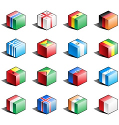 Flag icon set part 5 vector image vector image