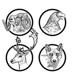 forest animals rings 2 vector image vector image