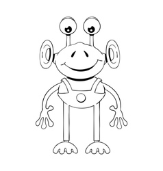 Funny cartoon alien vector image vector image