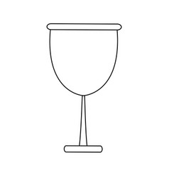 Glass cup beverage wine glassware outline vector