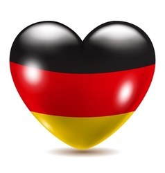 Heart shaped icon with flag of germany vector