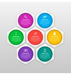 infographics template with six options in vector image vector image