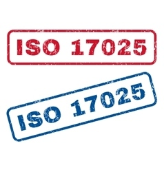 Iso 17025 rubber stamps vector