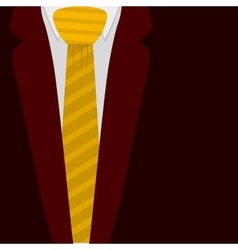 Isolated jacket with necktie design vector image vector image