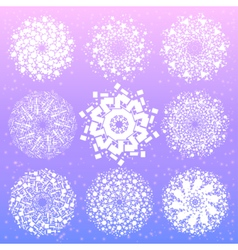 Mandala with sacred geometry symbols and elements vector image vector image