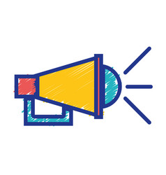 megaphone to communication mesage in the public vector image