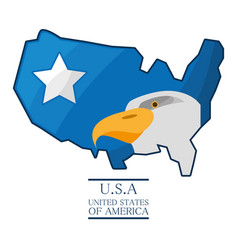 nice eagle with piece of american flag vector image vector image