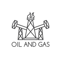 Oil and gas industry design template vector