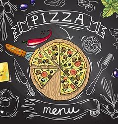 pizza vactor vector image vector image