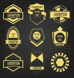 Premium Vintage Label Set vector image vector image