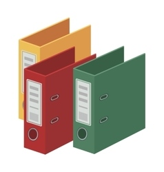 Ring binders icon in cartoon style isolated on vector