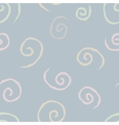seamless pattern with spiral curls 1 vector image vector image
