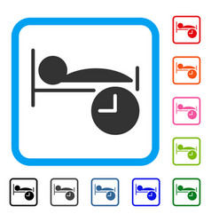 Sleep time framed icon vector