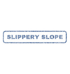 Slippery slope textile stamp vector