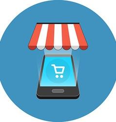Smartphone shopping concept isometric design icon vector