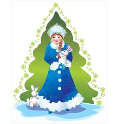 snow maiden vector image vector image
