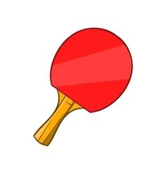 Table tennis racket icon cartoon style vector