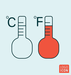 temperature icon isolated vector image vector image
