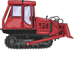 tractor a vector image